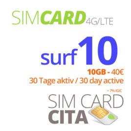 Surf10 mit 10GB – 30 Tage