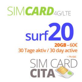 Surf20 mit 20GB – 30 Tage