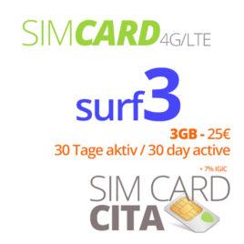 Surf3 mit 3GB – 30 Tage