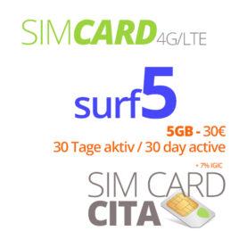 Surf5 mit 5GB – 30 Tage